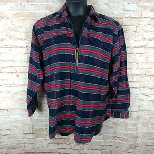 Lands' End Plaid Flannel women's pullover L 14-16